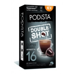 Podista Double Shot Coffee Pods (10 pack)