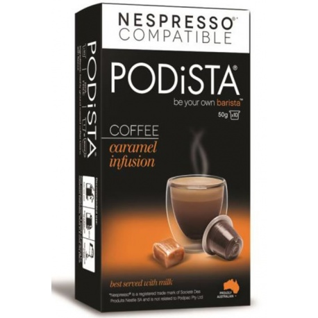 Podista Caramel Infusion Coffee Pods (10 Pack)