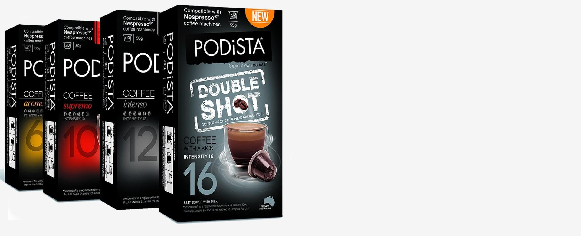 multiple intensities nespresso compatible coffee pods